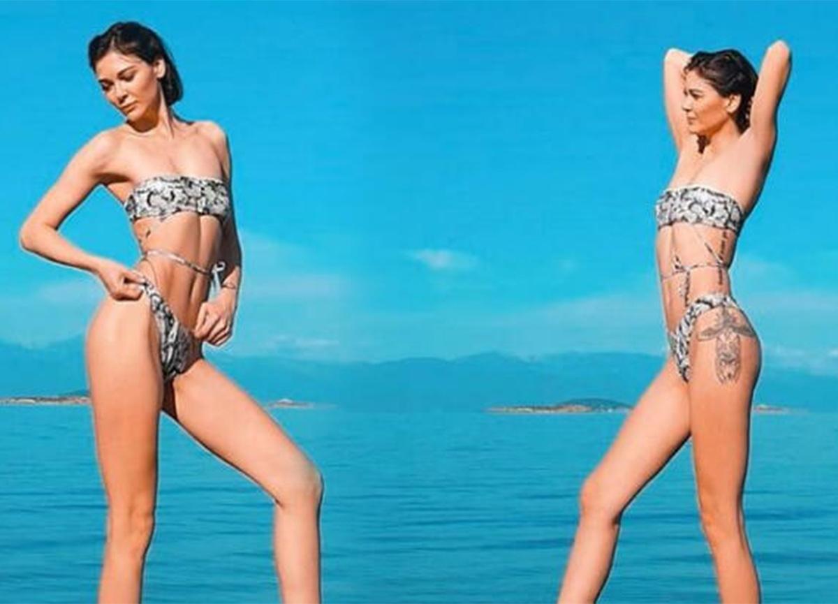 Sevcan Yaşar'ın bikinili pozları sosyal medyayı salladı