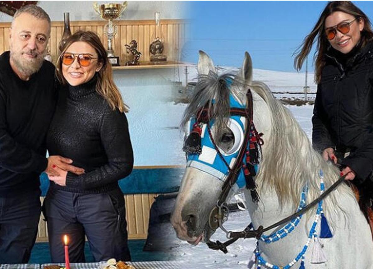 Selen Görgüzel'den cirit atı üzerinde kutlama