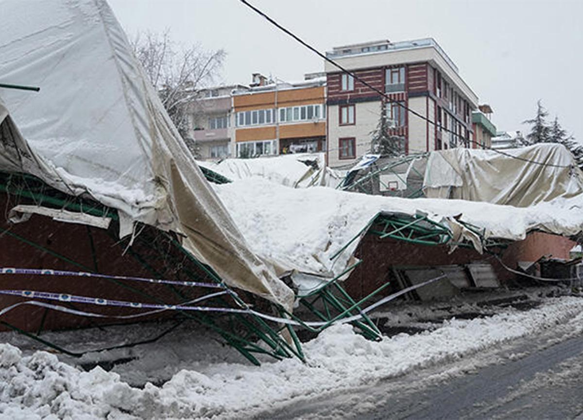 İstanbul Eyüpsultan'da felaket! Spor salonu çöktü