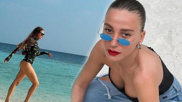 Ünlü oyuncu Serenay Sarıkaya kiminle tatile gittiğini açıkladı