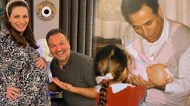 Kemal Sunal'ın kendi gibi oyuncu kızı Ezo Sunal anne oldu
