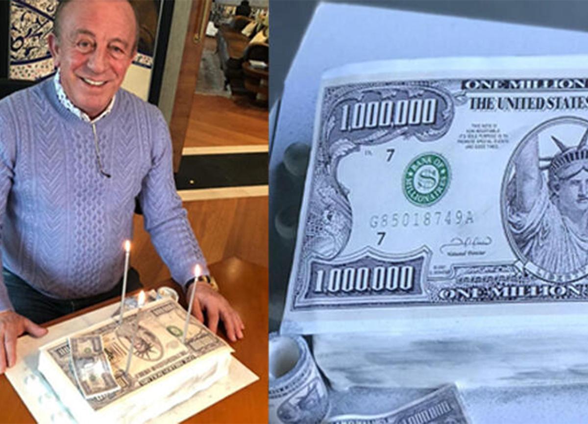 Ali Ağaoğlu, doğum gününde 1 milyon dolarlık pasta kesti