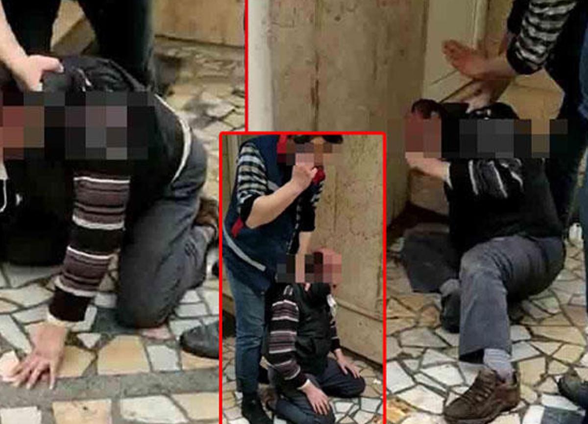 Bursa'da bir kız çocuğunu taciz eden şüpheliyi çevredekiler darbetti