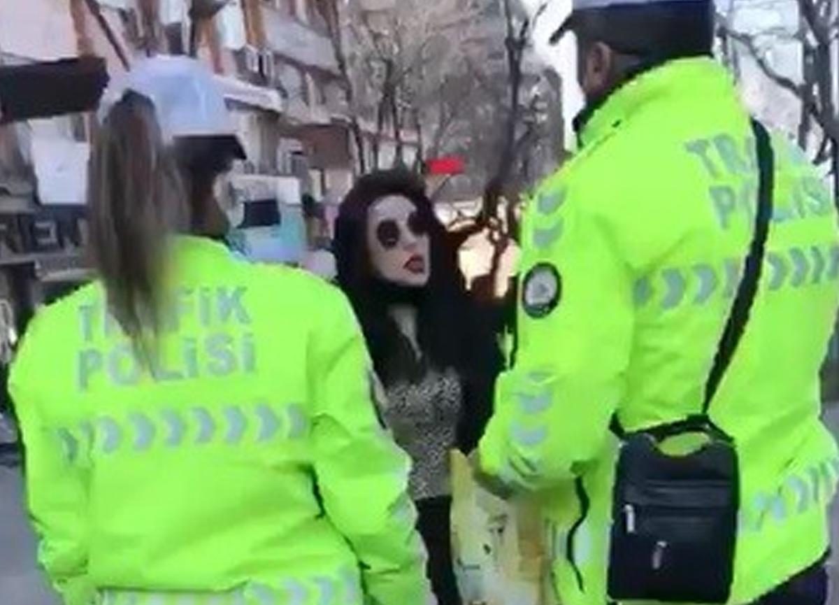 Polisin maske takmadığı için uyardığı kadın şoke etti: Ben korkmuyorum, gerekirse ölürüm