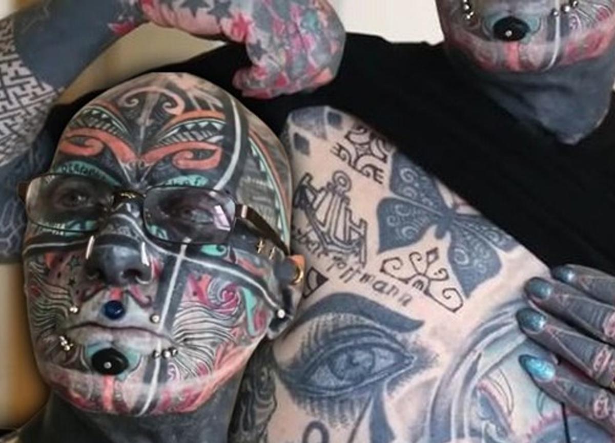 Dövme adam Wolfgang Kirsch'in vücudunun yüzde 98'i dövmeyle kaplı