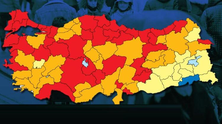 1 haftada 14 il daha 'kırmızı' oldu: İşte 'mavi' kalan tek şehrin sırrı