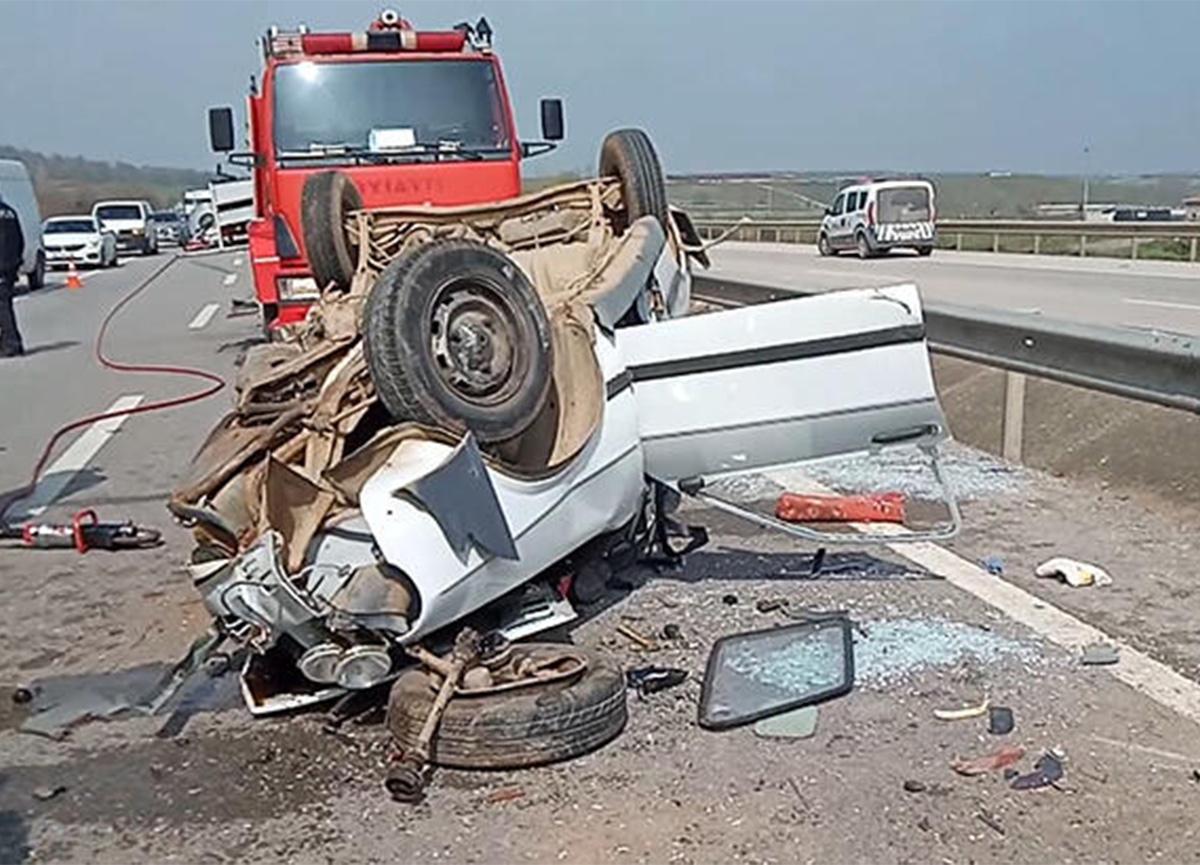 Bursa'da feci kaza! 1 kişi öldü, 3 kişi ağır yaralandı