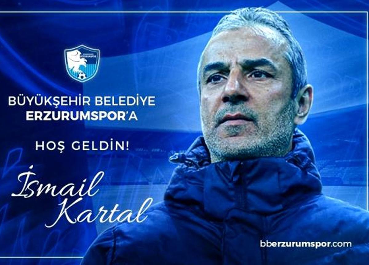Erzurumspor, teknik direktör İsmail Kartal ile anlaştı