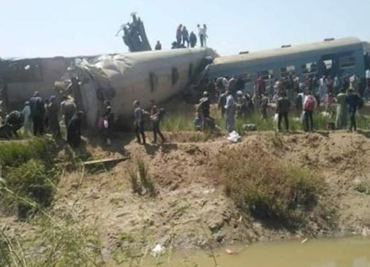 Mısır'da feci tren kazası: En az 32 kişi hayatını kaybetti, 66 kişi yaralandı
