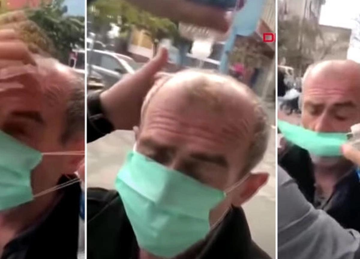 Maske takıp kolonya dökmüştü: Uzun süre konuşulan görüntülerle ilgili karar belli oldu