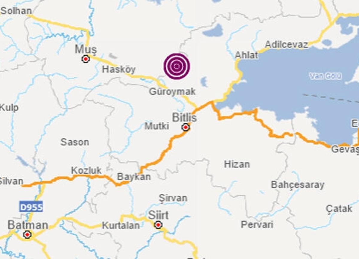 Son dakika: Muş'un Korkut ilçesinde 4, 2 büyüklüğünde deprem meydana geldi