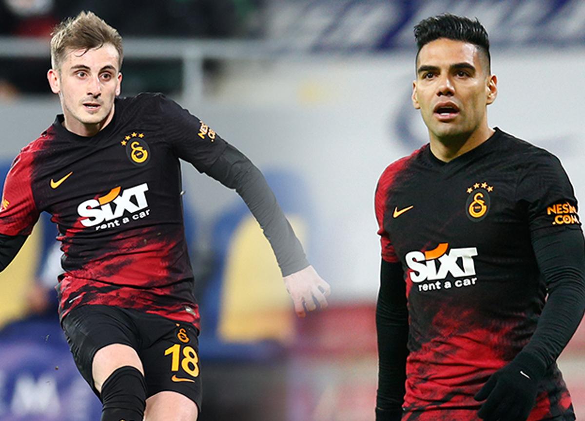 Galatasaray idmanında korkutan çarpışma! Falcao ve Kerem Aktürkoğlu hastaneye kaldırıldı...
