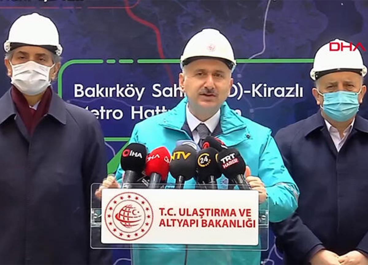 Ulaştırma Bakanı açıkladı! Bakırköy-Bahçelievler-Kirazlı metro hattı 2022'de açılacak