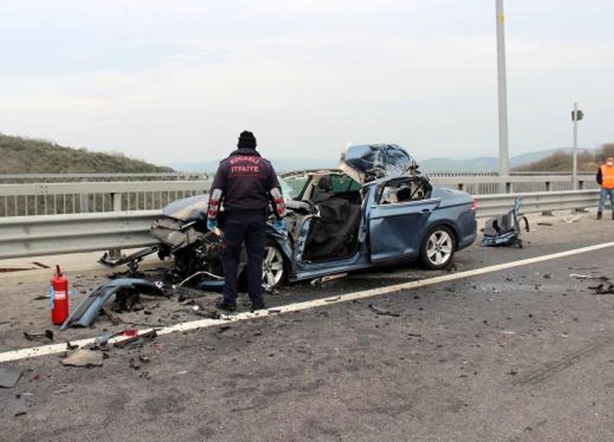 Kuzey Marmara otoyolunda feci kaza! Lüks araç sürücüsü hayatını kaybetti