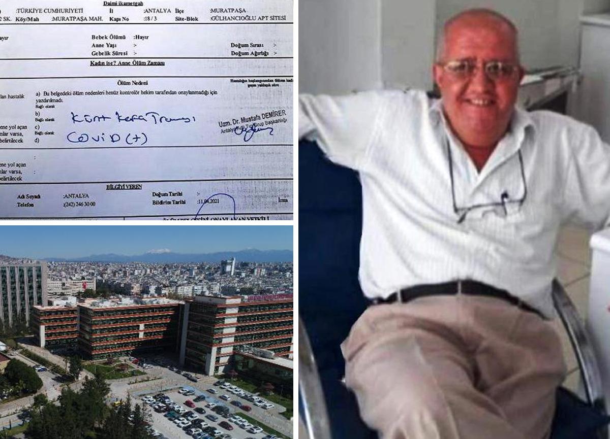 Aile isyan etti: Hastanede iki kez yataktan düşen Covid hastası 9 gün sonra hayatını kaybetti