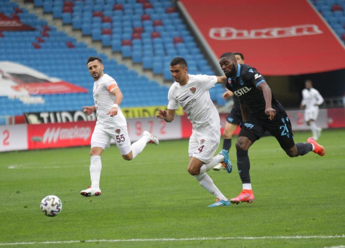 Trabzonspor sahasında Hatayspor ile 1-1 berabere kaldı