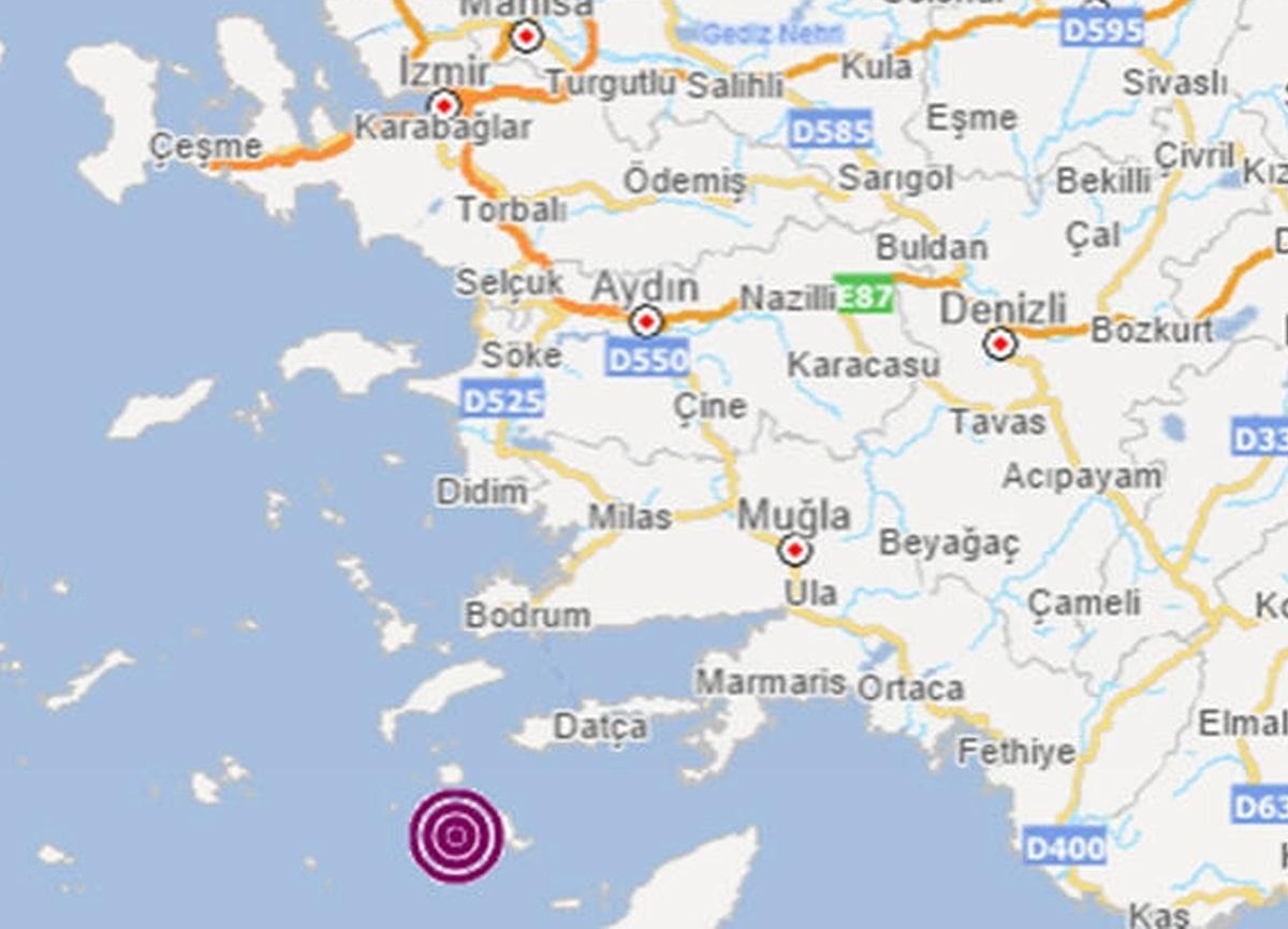 Son dakika: Ege Denizi'nde Datça açıklarında 4.4 büyüklüğünde deprem meydana geldi