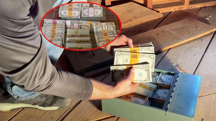 Evin zemininden hazine çıktı! Para fışkırdı...