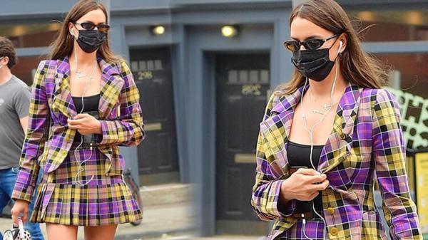Irina Shayk'ın dikkat çeken sokak stili