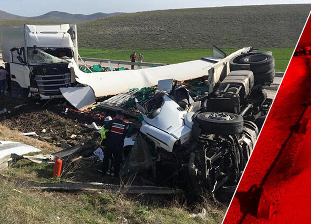 Kütahya'da feci kaza! İki TIR çarpıştı
