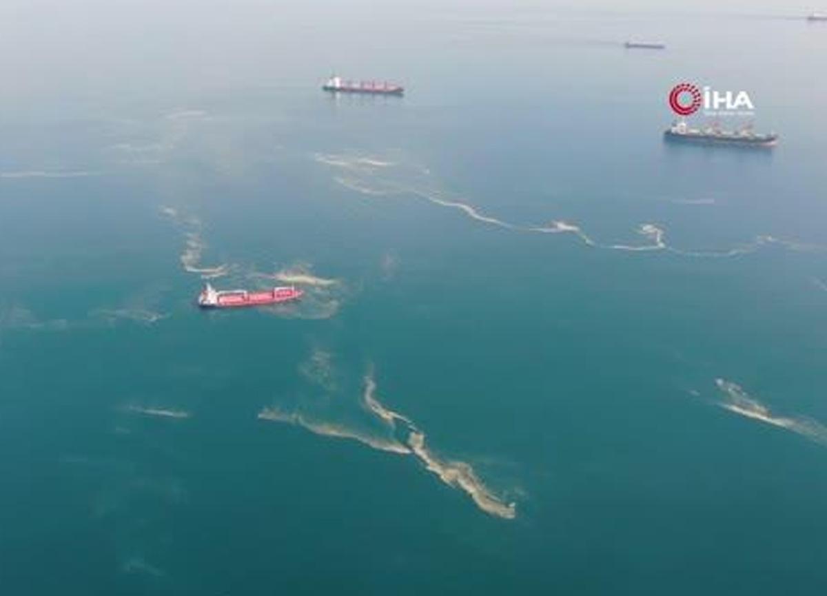 İstanbul'da korkutan görüntü! Deniz salyası her yeri sardı