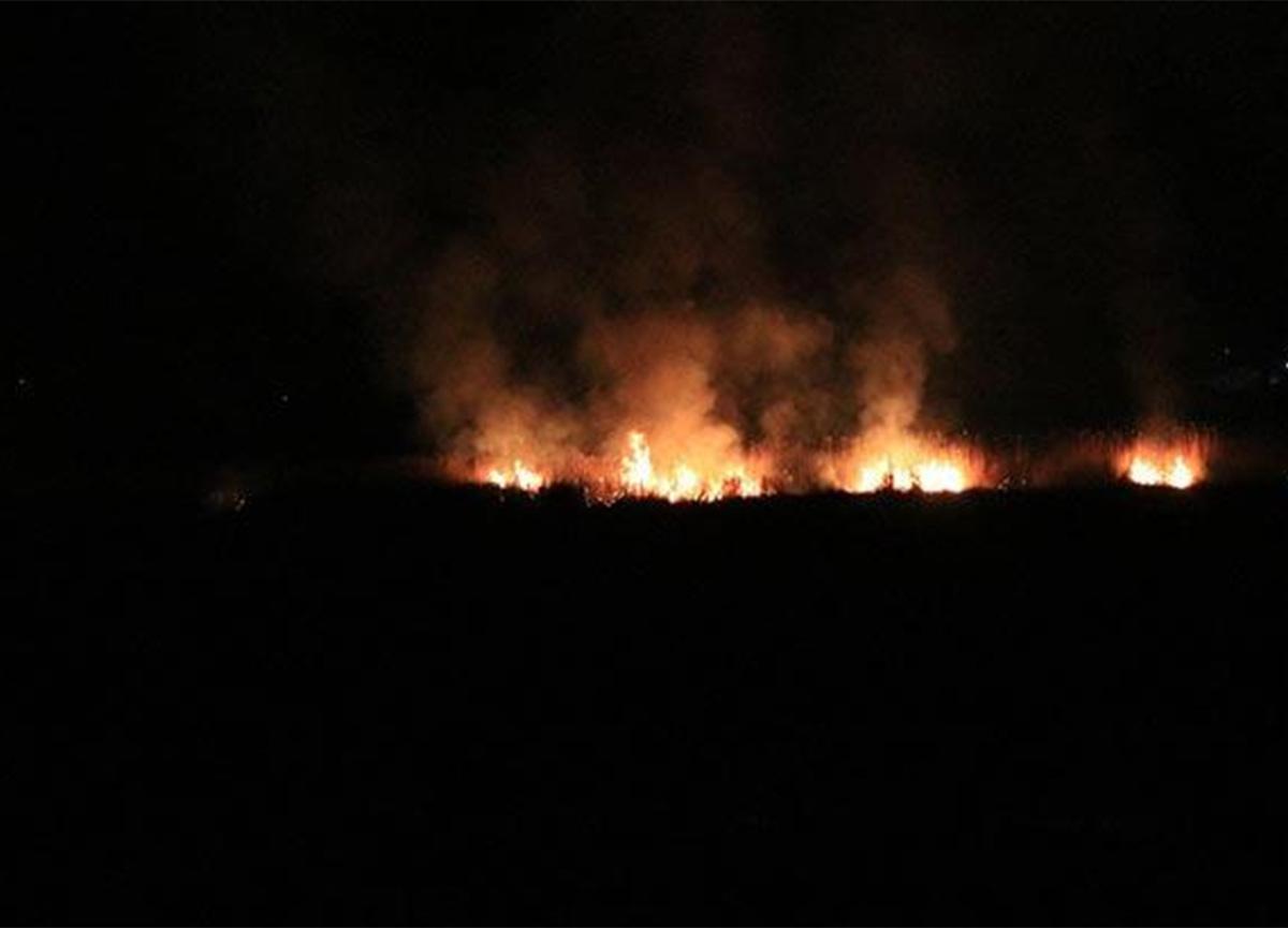 Erzincan'da korkutan yangın! İtfaiye bölgeye giremiyor