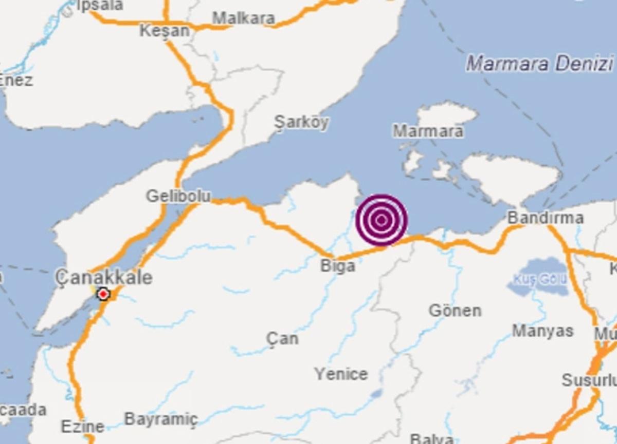 Son dakika: Çanakkale'de 4.0 büyüklüğünde deprem meydana geldi!