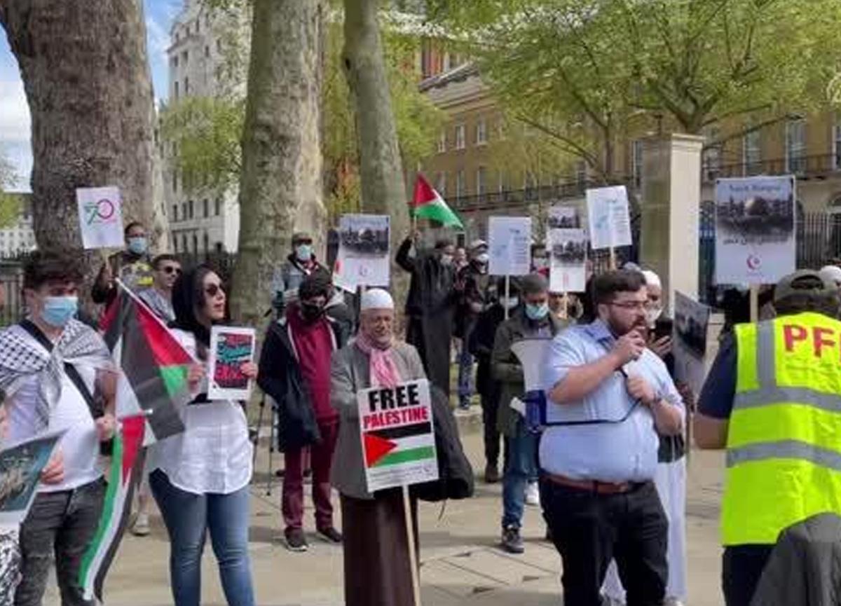 İngiltere'de Filistin protestosu