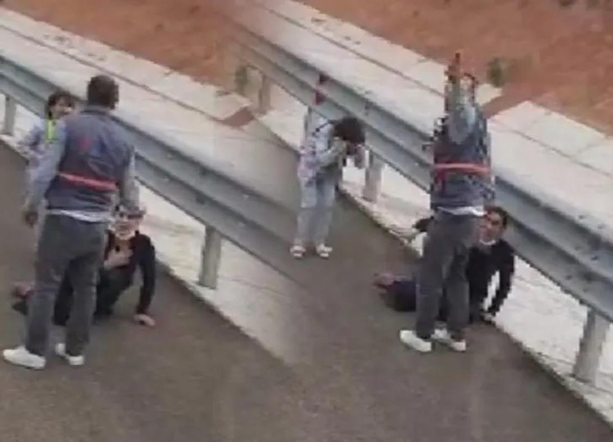 Ankara'da sosyal medyayı ayağa kaldıran olay! Kadına şiddet anları böyle kameraya yansıdı