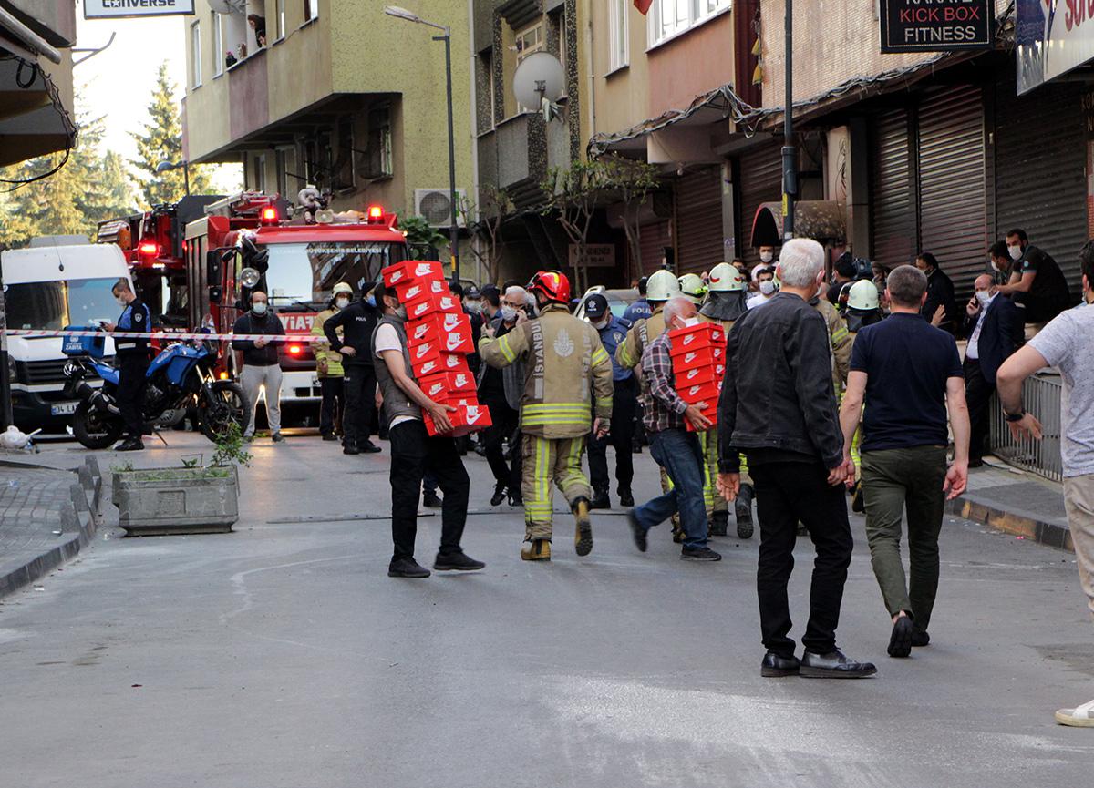 Şişli'de korku dolu anlar... 6 katlı bina boşaltıldı