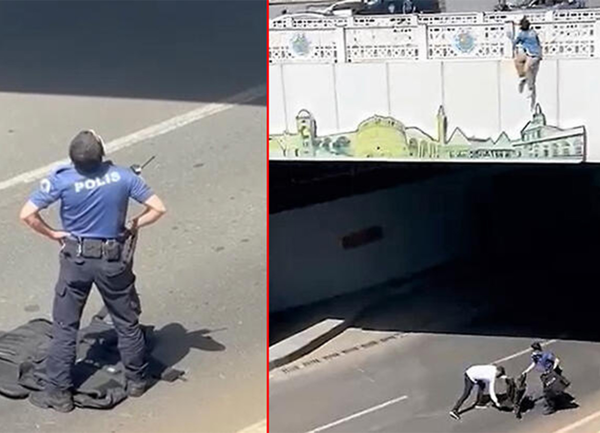 Yer: Diyarbakır! İntihar etmek isteyen genç kıza polislerden çelik yelekli önlem