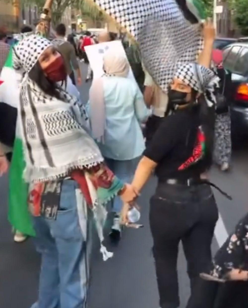 Ünlü model Bella Hadid, sokaklarda Filistin eyleminde