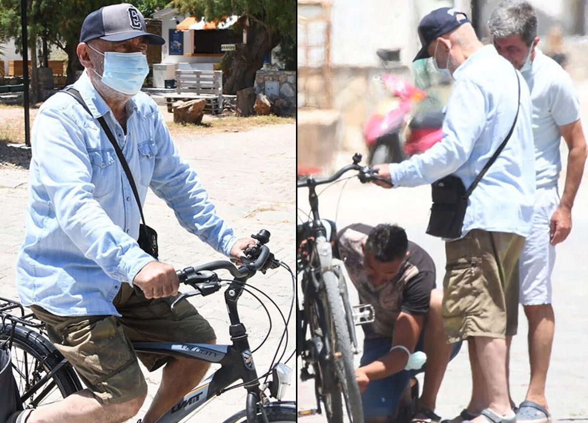 Datça esnafı, bisikleti bozulan Şener Şen için seferber oldu