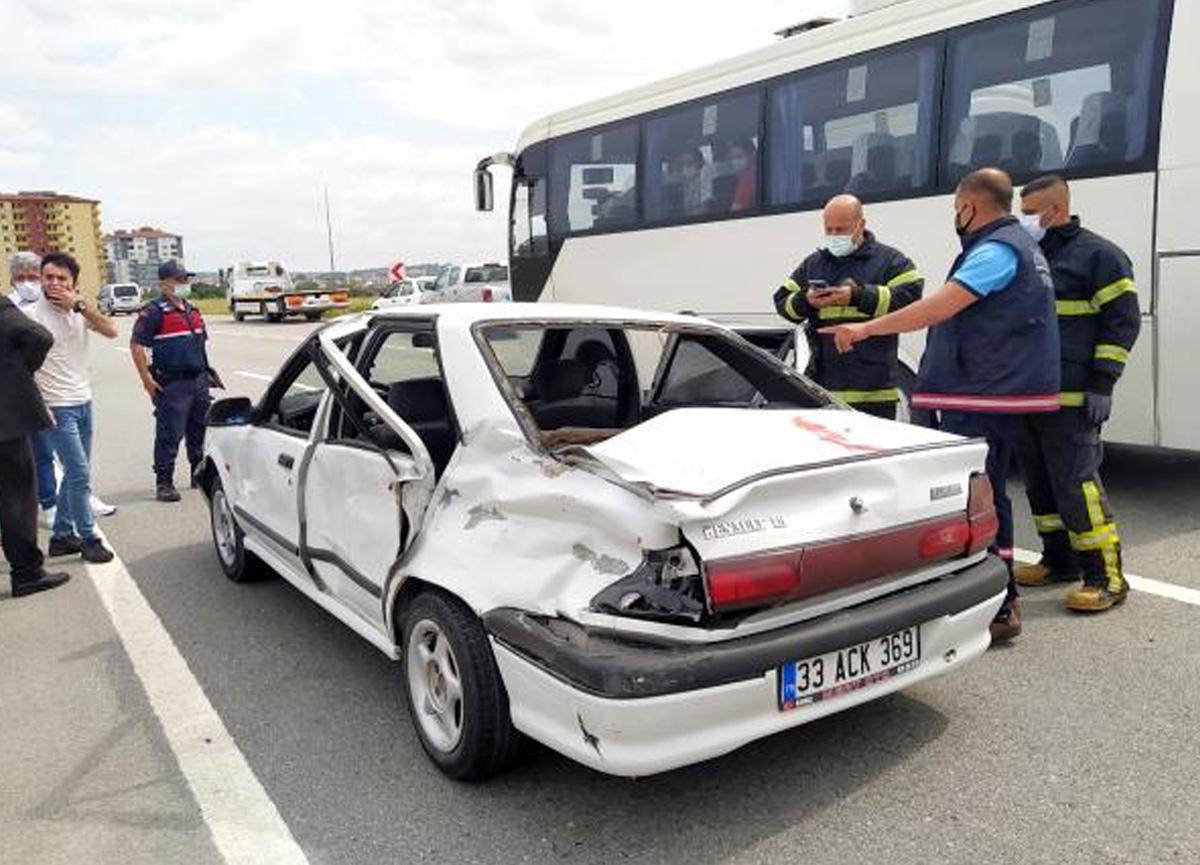 Nikah için yola çıkan araç kaza yaptı! 6 yaralı var