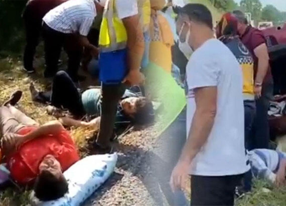 Bursa İnegöl'de kaza! 5 yaralı var