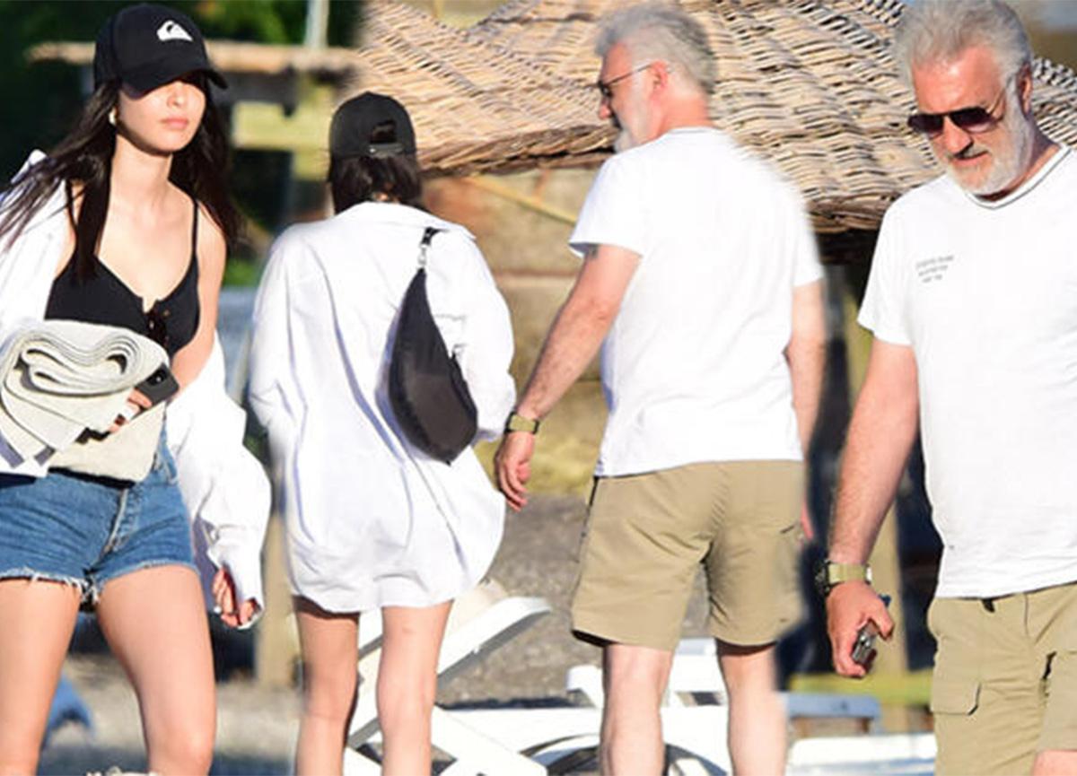 Tamer Karadağlı ile Iraz Yıldız, tatilde görüntülendi