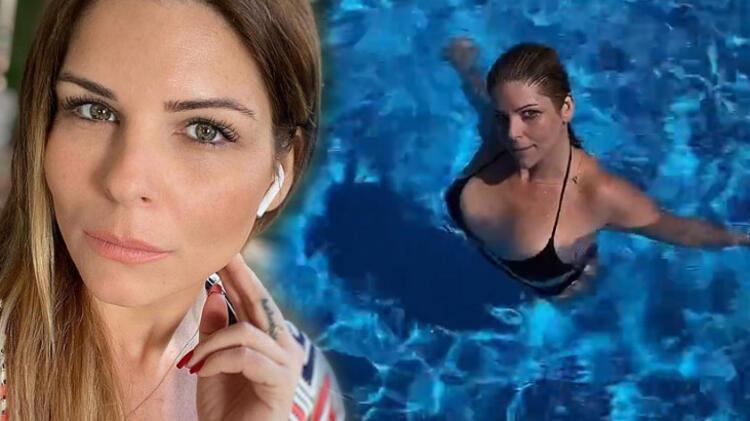 Ünlü oyuncu Pelin Öztekin, bikinili pozunu sosyal medyadan paylaştı
