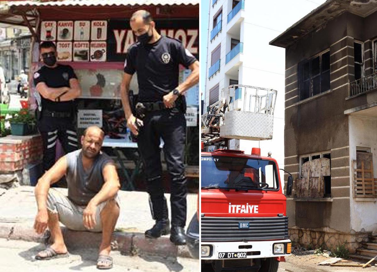 'Yakmadan duramıyorum, ne yapayım' diyen adam bir binayı daha yaktı