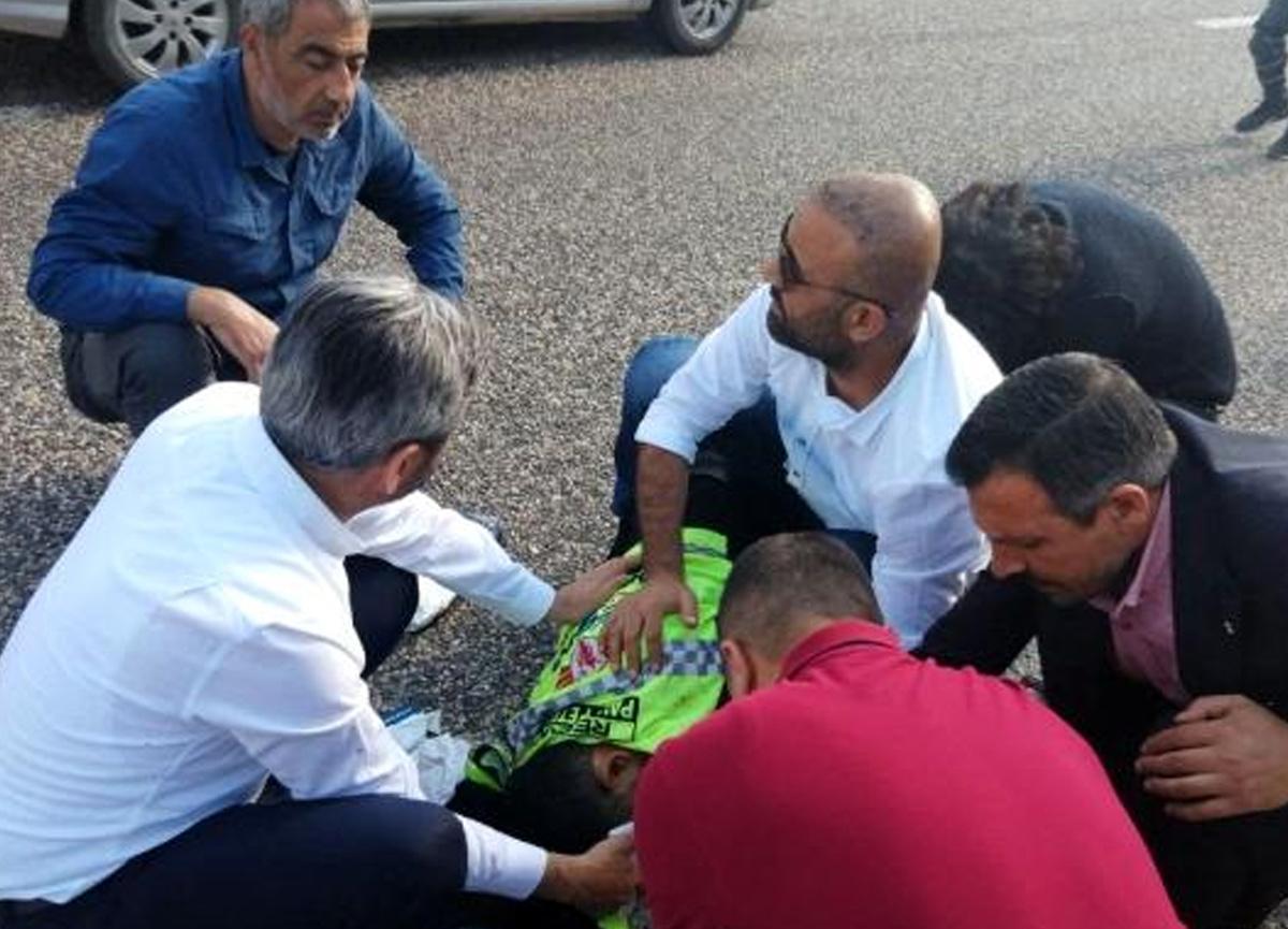 Kazada yaralanan vatandaşa ilk müdahaleyi milletvekili yaptı