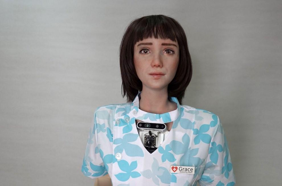 Covid-19 hastaları için insansı robot geliştirildi: Grace