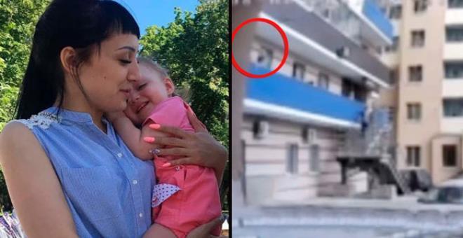 Korkutmak için 6'ncı kattan sarkıttığı 3 yaşındaki kızını yere düşürdü