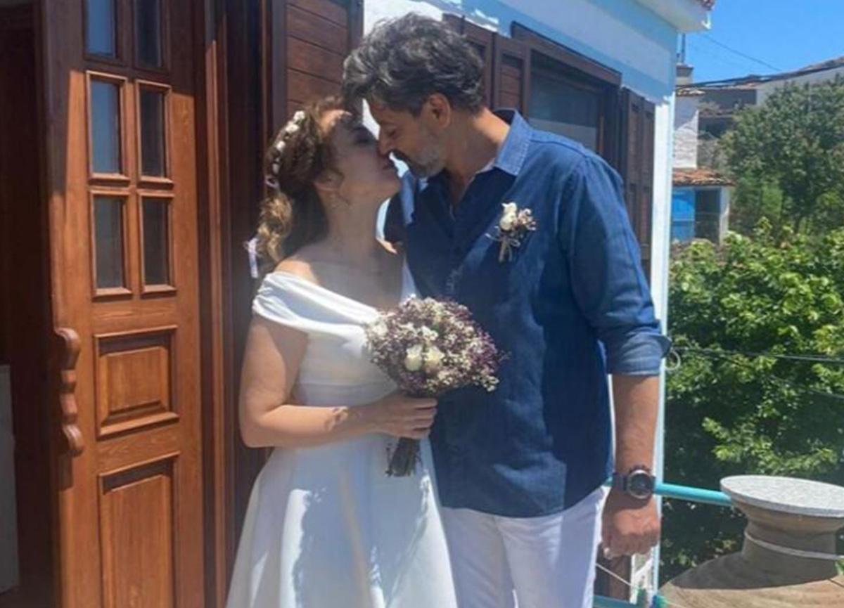 Deniz Uğur ile Erdinç Gülener, Gökçeada'da evlendi