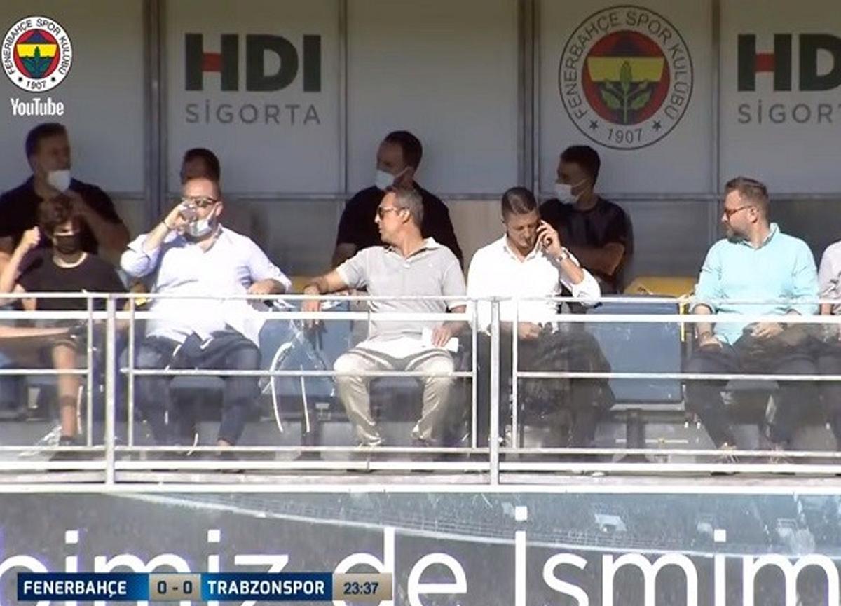 Ali Koç, Sırp menajer ile U-19 Trabzonspor maçını takip etti