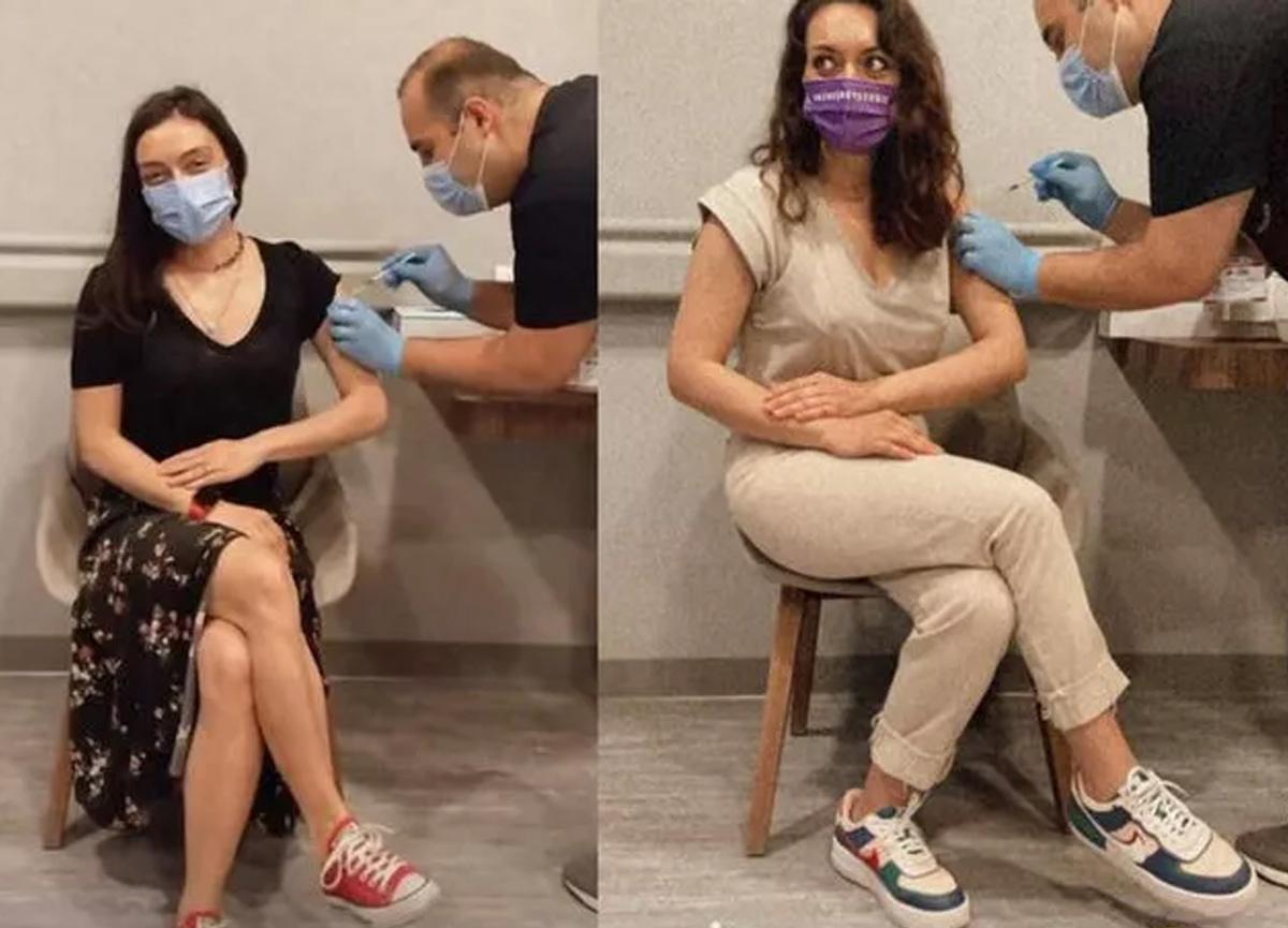Ezgi Mola ve Merve Dizdar koronavirüs aşısı oldu!