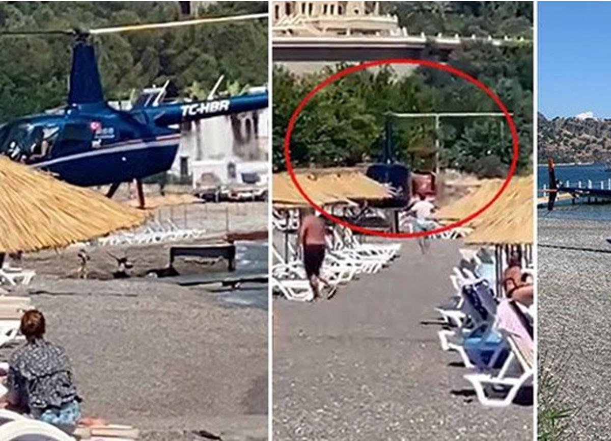 Plaja iniş yapan helikopter pilotu konuştu: Biz havacılık aşığı bir aileyiz, kahvaltıya gitmiştik