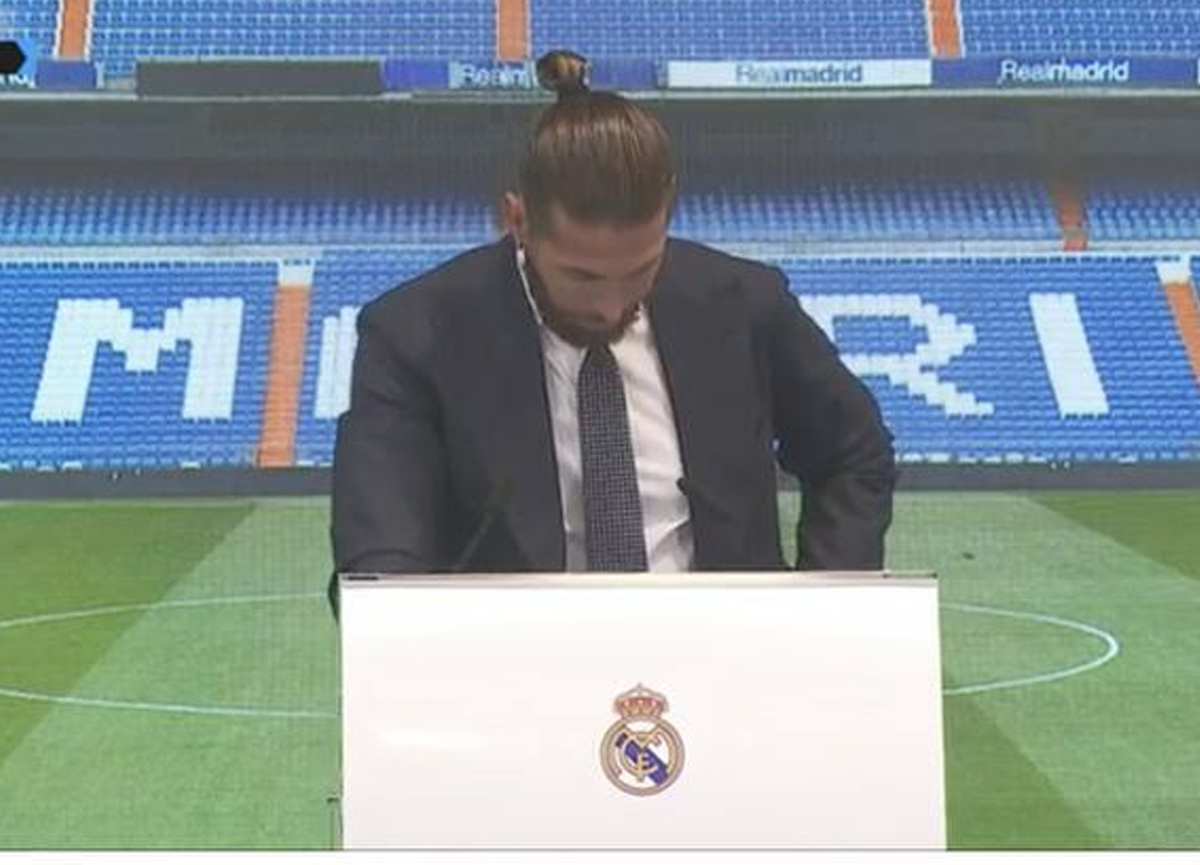 Real Madrid defterini kapatan Sergio Ramos böyle veda etti: Gözyaşlarını tutamadı