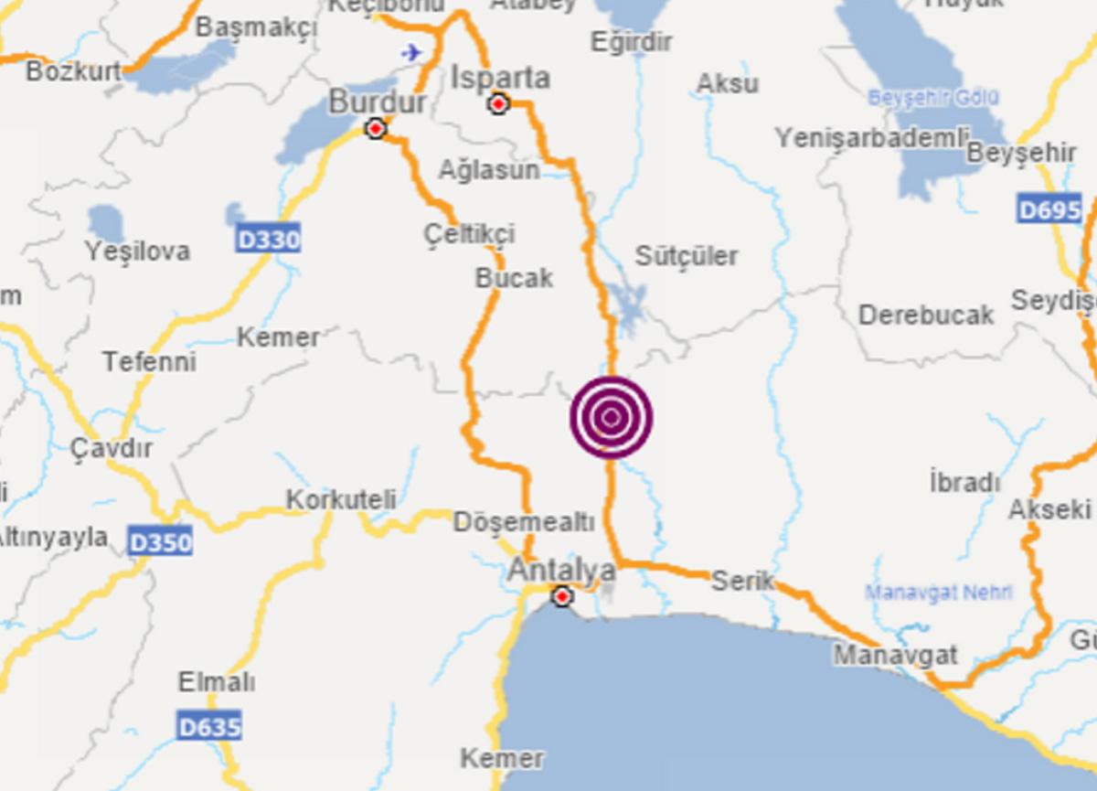 Son dakika: Antalya'da 3.5 büyüklüğünde deprem meydana geldi!