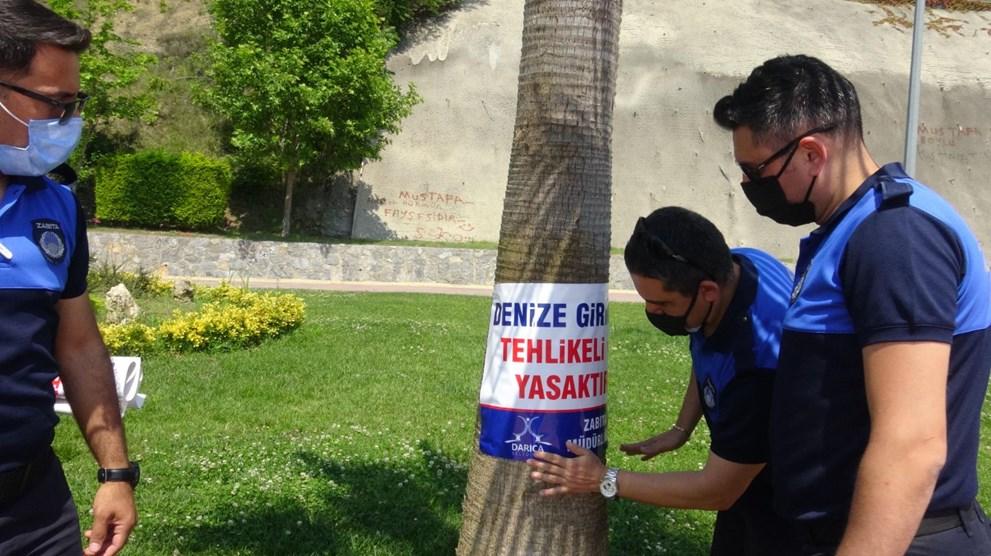 Müsilaj nedeniyle Darıca'da denize girmek yasaklandı