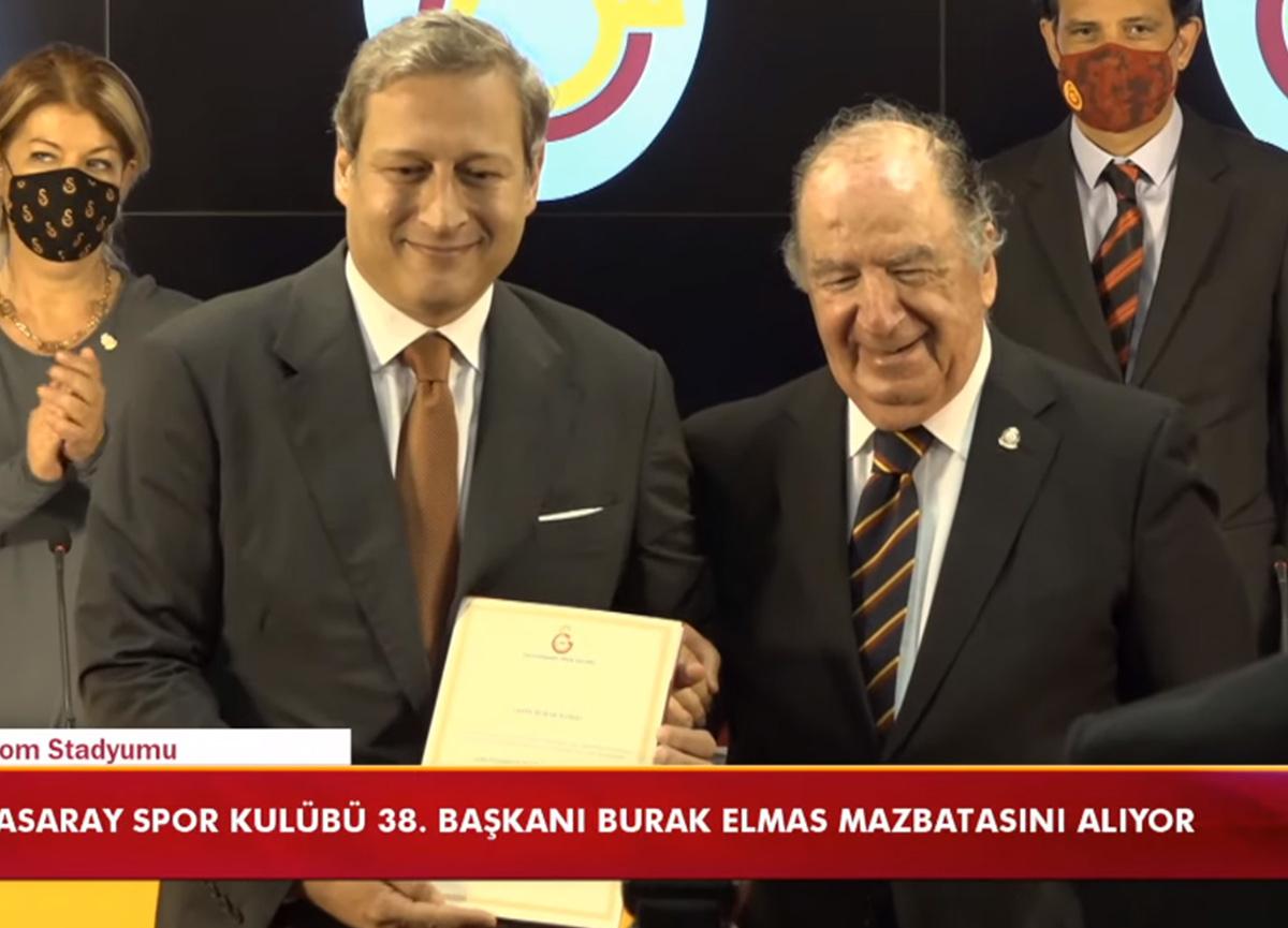 Galatasaray'ın yeni başkanı Burak Elmas, görevine resmen başladı
