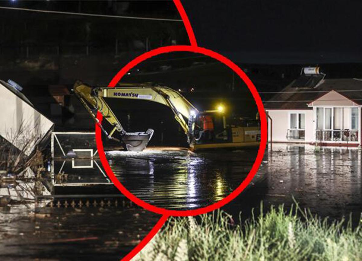 Ankara'da dere taştı! Evleri su bastı